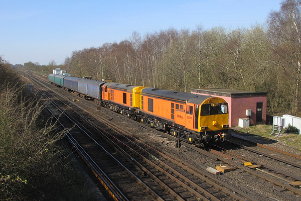 20311 Worting Junction 24/03/20 5L47 Eastleigh to Ely Papworth Sidings with 20314