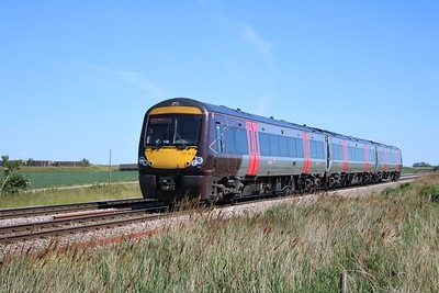 170105 passing Wisbech Road crossing, Manea at 1525/1N59 Cambridge to Birmingham