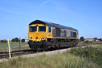 66717 passing Wisbech Road crossing, Manea at 0859/0zxx Whitemoor to Whitemoor light engine run