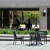 Tribune-Star/Austen Leake<br /> Workers push carts through a mostly empty Indiana State University campus.