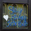 Tribune-Star/Austen Leake<br /> Many local businesses have painted or hung signs encouraging people to stay safe.