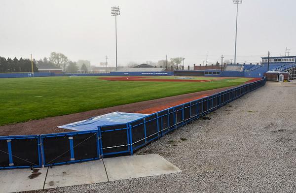 Tribune-Star/Austen Leake<br /> A lost season: Bob Warn Field remains empty after Indiana State University's baseball season was cut short and the Terre Haute Rex season has been postponed.