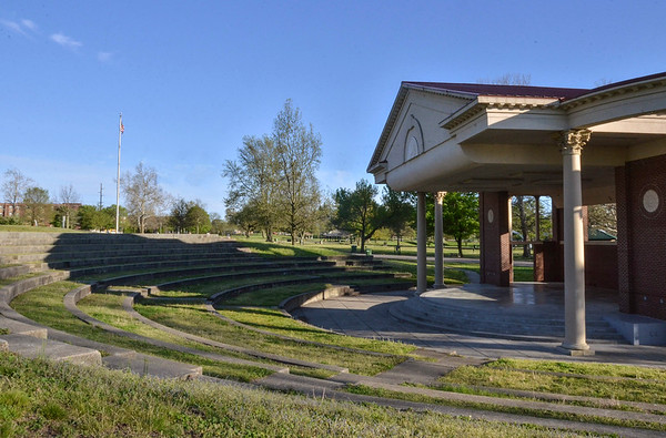 Tribune-Star/Austen Leake<br /> The music stopped: Summer concerts were usually a staple of the Fairbanks Park amphitheater, but the prospect of a gathering this summer seems unlikely.