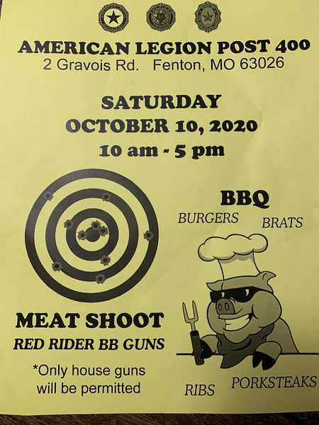 American Legion Post 400 Meat Shoot & BBQ