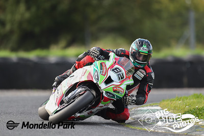Derek Sheils (Roadhouse Macau BMW) at Turn 4, during the Superbike race 3 of the Dunlop Masters at Mondello Park Sept 20th 2020 PICTURE BY Joe Connolly