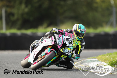Luke Johnston (Unlimited BMW) at Turn 4, during the Superbike race 3 of the Dunlop Masters at Mondello Park Sept 20th 2020 PICTURE BY Joe Connolly