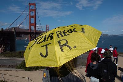 Vigil for Democracy - Golden Gate Bridge