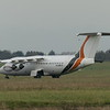 Withdrawn 1985-built Avro RJ BAE-146-200 G-SMLA (ex Pacific Southwest & USAir N364PS/N188US) at Cranfield Airport, 11.11.2020.