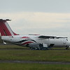 Withdrawn Air Libya Avro RJ 100 SA-FLA at Cranfield Airport having been stripped for parts, 11.11.2020.