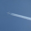 American Airlines Boeing 787 Dreamliner N823AN passing over Cranfield on a Paris-Dallas flight, 11.11.2020.