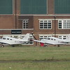 Newly built Piper Pa-28 aircraft G-LCTM and G-LCTN at Cranfield Airport, 11.11.2020.
