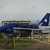 English Electric Lightning T5 XS458 at Cranfield Airport, 11.11.2020.
