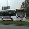 Uno Wright Streetlite SK68TNN WS57 leaving Kingston Centre, Milton Keynes, on Cranfield University service C1, 02.11.2020.