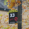 Signage for the X3 Xpress service in Cambourne, 01.11.2020.