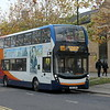 Stagecoach ADL Enviro 400 MMC YX67VDP 10878 in Cambourne on the 905 to Bedford, 01.11.2020.
