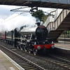"""Recently restored LMS Jubilee Class no. 45596 """"Bahamas"""" passing through Leighton Buzzard on a run from the Mid Hants Railway to the Keighley and Worth Valley Railway, 03.11.2020."""