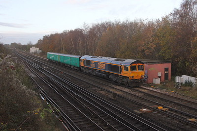 66702 Worting Junction 18/11/20 5Z07 Eastleigh to Doncaster West Yard