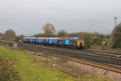 57312 Worting Junction 17/11/20 5Q71 Eastleigh to Wembley H.S with 319373