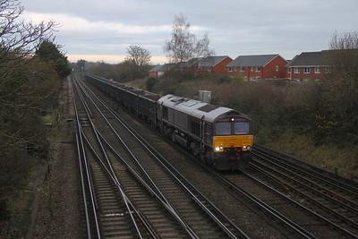 66743 Worting Junction 23/11/20 4Y19 Mountfield to Southampton Western Docks