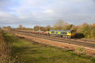 66702 Worting Junction 17/11/20 6Y48 Eastleigh to Hoo Junction