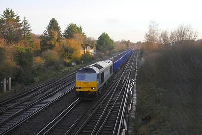 60029 Worting Junction 24/11/20 6Z92 Willesden DC Rail Sidings to Eastleigh Marshalling Yard
