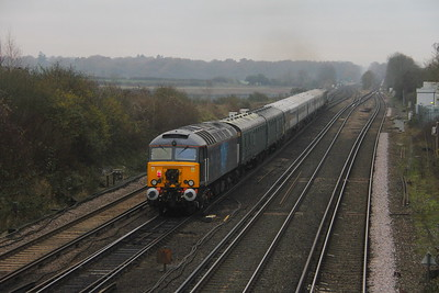 57312 Worting Junction 27/11/20 on the rear of 5Q86 Wolverton to Eastleigh with 2414