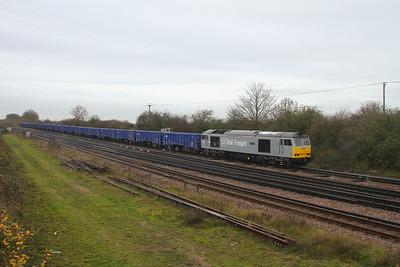 60029 Worting Junction 20/11/20 6Z90 Eastleigh to Willesden DC Rail Sidings