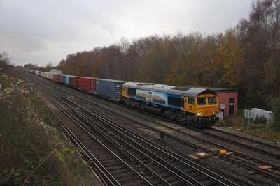66709 Worting Junction 23/11/20 4M51 Southampton Western Docks to Trafford Park Euro Terminal