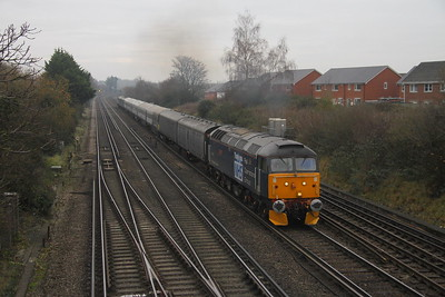 47813 Worting Junction 27/11/20 5Q86 Wolverton to Eastleigh with 2414