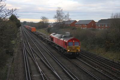 66077 Worting Junction 23/11/20 4O21 Trafford Park Euro Terminal to Southampton Western Docks