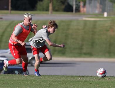 Men's soccer scrimmage 10/02.