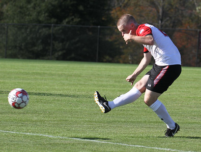 Men's soccer plays an inter-squad scrimmage.
