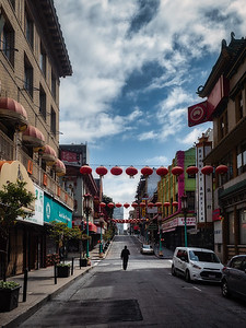 Lone individual in Chinatown SF