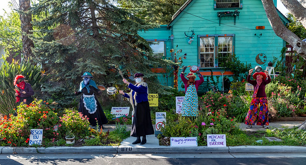 The Raging Grannies agitate for fair distribution of federal virus funds...