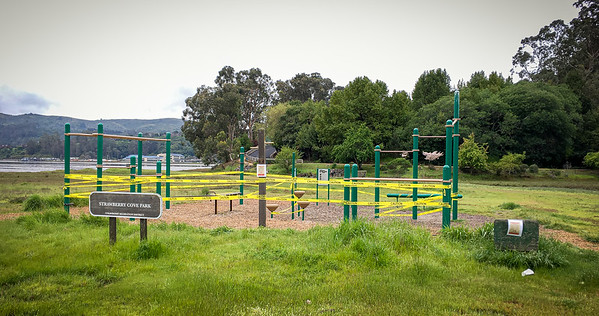 Mill Valley's Strawberry Cove Park is closed, as with all other public parks