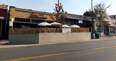 Parklet Solano Ave Berkeley  by Nancy Rubin