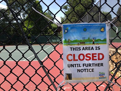 CLOSED Berkeley Rose Garden Tennis Courts 5 16 20 Nancy Rubin