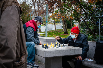 Chess in the Park - masked - © Steve Disenhof 2020