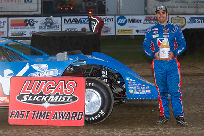 Lucas Oil Slick Mist Fast Time Award winner Josh Richards