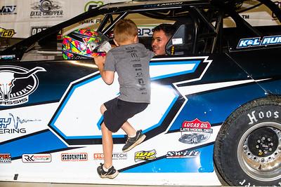 Kyle Larson and son Owen
