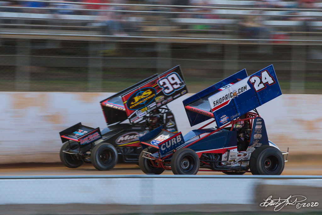Pennsylvania Sprint Car Speed Week presented by Red Robin - Port Royal Speedway - 39M Anthony Macri, 24R Rico Abreu