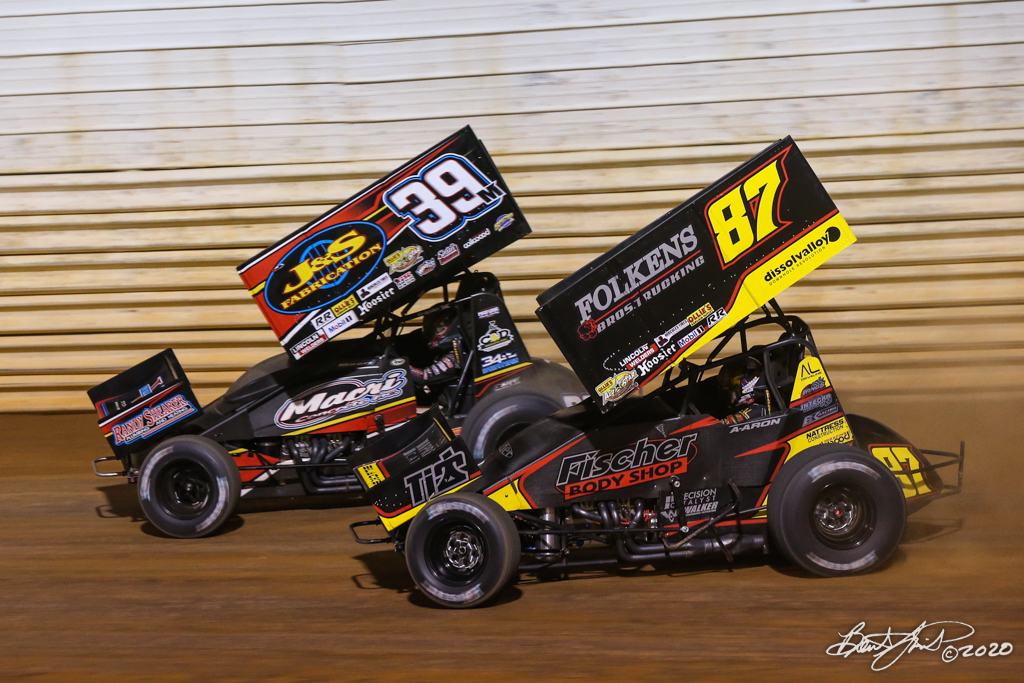 Pennsylvania Sprint Car Speed Week presented by Red Robin - Port Royal Speedway - 39M Anthony Macri, 87 Aaron Reutzel