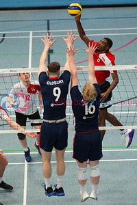 City of Edinburgh 3 v 0 City of Glasgow Ragazzi (20, 18, 23), SVA Men's John Syer Grand Prix Final, Institute of Sport and Exercise, University of Dundee, Sun 9th Feb 2020. © Michael McConville https://www.volleyballphotos.co.uk/2020/SCO/Cups/JSGP/Men/