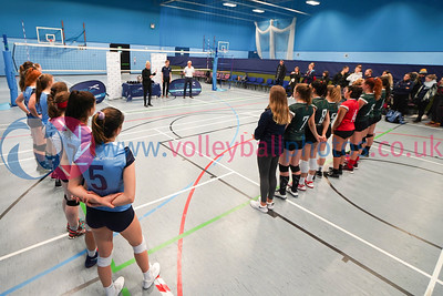 University of Edinburgh 3 v 1 University of St Andrews (25-16, 26-24, 20-25, 25-23), SSS Women's Cup Final, Institute of Sport and Exercise, University of Dundee, Sun 9th Feb 2020. © Michael McConville https://www.volleyballphotos.co.uk/2020/SCO/SSS/2020-02-09-sss-womens-final