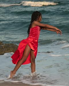 Sarah on Beach-1