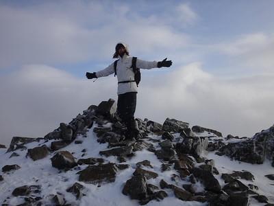 Jasmijn on the summit of Meall a Bhuiridh, 1,108 m