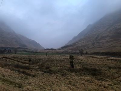 On the way back, we swung by Glen Etive, where Skyfall (James Bond) was filmed! A suitably bleak and desolate place.