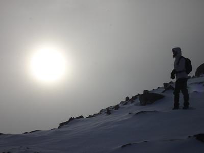 Meall a Bhuiridh summit JdeB sun 1