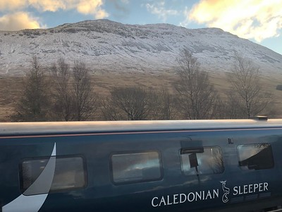 The Calendonian Sleeper was brilliant! You leave London about 10 pm, and wake up in the Scottish Highlands!