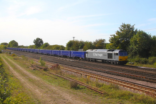 60055 Worting Junction 18/09/20 6Z93 Eastleigh to Willesden DC Raul sidings